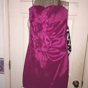 fuchsia flower dress
